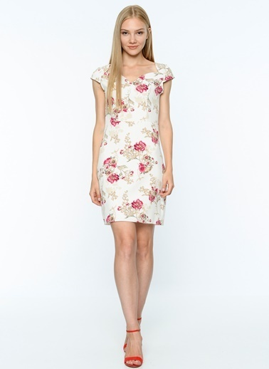 Çiçek Desenli Mini Dar Elbise-Dewberry